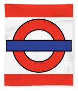 London Underground Blank Fleece Blanket