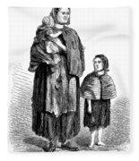 London, Vagrants, 1861 Fleece Blanket