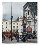 London - Victoria Station Fleece Blanket