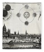 London With Eclipse Diagram, 1748 Fleece Blanket