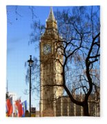 London's Big Ben Fleece Blanket