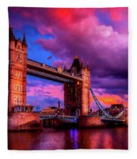 London's Tower Bridge Fleece Blanket
