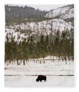 Lone Buffalo Fleece Blanket
