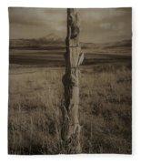 Lone Cone Post Fleece Blanket