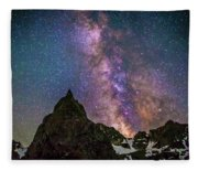 Lone Eagle Peak Dancing In The Milky Way Fleece Blanket