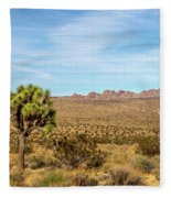 Lone Joshua Tree - Pleasant Valley Fleece Blanket