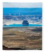 Lone Rock In Lake Powell Utah Fleece Blanket