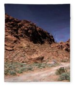 Lone Rock Road Overton Nevada  Fleece Blanket