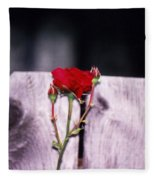 Lone Rose Fleece Blanket