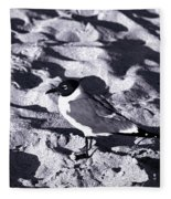 Lone Seagull Fleece Blanket