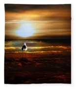 Lone Seagull Fleece Blanket