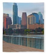 Lone Star State Capitol Ahead Fleece Blanket