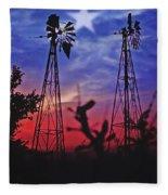 Lone Star Sunset Fleece Blanket