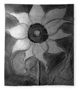 Lone Sunflower Iv Fleece Blanket