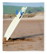Lone Surfboard Fleece Blanket