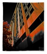 Lonely Balkony Infrared Color 80 Fleece Blanket