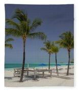 Lonely Beach Fleece Blanket