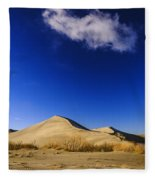 Lonely Cloud Over Sand Dunes At Bruneau Dunes State Park Idaho Usa Fleece Blanket