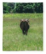 Lonely Cow 2 Fleece Blanket