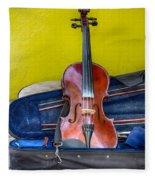 Lonely Fiddle Fleece Blanket