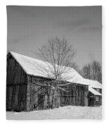 Lonely Grey Barn Fleece Blanket