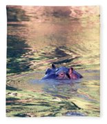 Lonely Hippo Fleece Blanket
