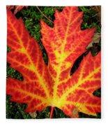 Lonely Leaf ... Fleece Blanket