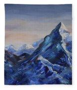 Lonely Mountain Cliff Fleece Blanket
