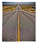 Lonely Road #2 Fleece Blanket