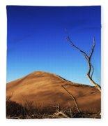 Lonely Bare Tree And Sanddunes Fleece Blanket
