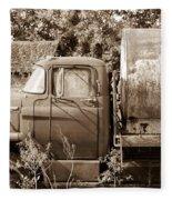 Lonely Truck Fleece Blanket