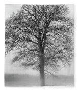 Lonely Winter Tree Fleece Blanket