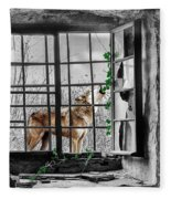 Lonely Wolf Fleece Blanket