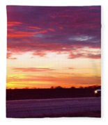 Lonesome Highway Fleece Blanket