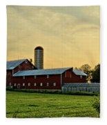 Long Barn Fleece Blanket