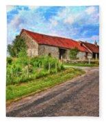 Long Barns Near Avincey - P4a16016 Fleece Blanket