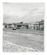 Long Beach California C. 1910 Fleece Blanket