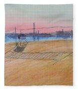 Long Beach Icons Fleece Blanket