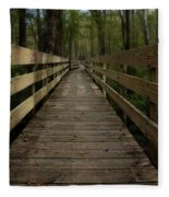 Long Boardwalk Through The Wetlands Fleece Blanket
