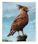 Long Crested Eagle Fleece Blanket