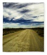 Long Dusty Road In Jal New Mexico  Fleece Blanket