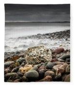 Long Exposure At Lawrencetown Beach, Nova Scotia Fleece Blanket
