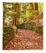 Long Fall Walk  Fleece Blanket