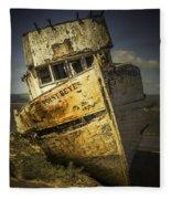 Long Forgotten Boat Fleece Blanket