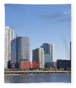 Long Island City Towers Fleece Blanket