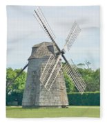 Long Island Wind Mill Fleece Blanket