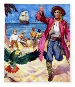 Long John Silver And His Parrot Fleece Blanket