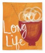 Long Life Noodle Bowl Fleece Blanket