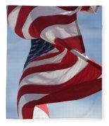Long May She Wave Fleece Blanket