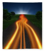 Long Road In Twilight Fleece Blanket